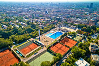 Zagreb Salata hilla and city center aerial view