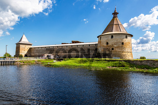 Historical Oreshek fortress is an ancient Russian fortress