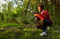 Naturfotograf bei Landschaftsfotografie als Hobby