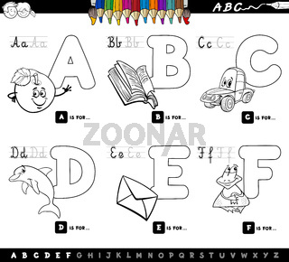 educational alphabet letters coloring book