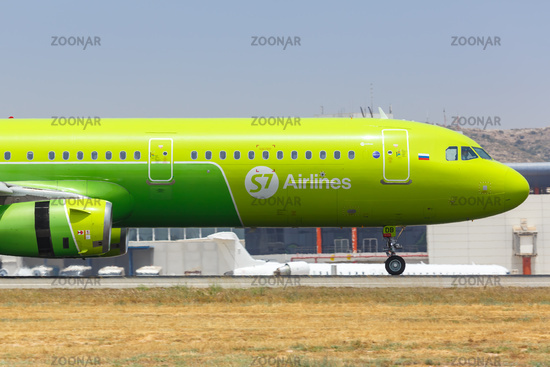 S7 Airlines Airbus A321 airplane Alicante airport