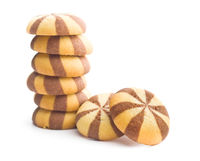 Sweet striped biscuits.
