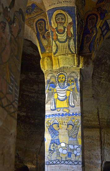 Fresken in der orthodoxen Felsenkirche Abuna Gebre Mikael, Gheralta, Tigray, Ãthiopien