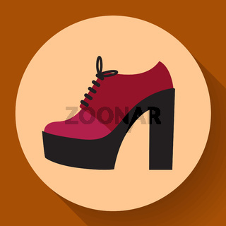 womens fashion shoes boots Icon Female Winter Shoes Element In Trendy Style.