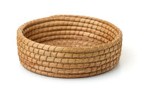Round cane wicker basket