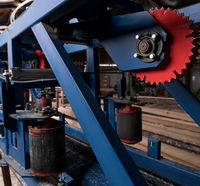 Processing of wooden logs with modern machinery