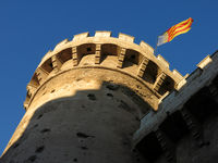 Quart Towers, medieval fort in Valencia, Spain.