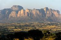 Gheralta Bergmassiv über der Hawzien Ebene, Hawzien, Tigray, Äthiopien