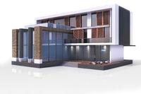 3d contemporary modern house