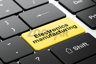 Manufacuring concept: Electronics Manufacturing on computer keyboard background