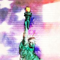 Digitale Skizze der Freiheitsstatue
