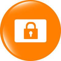 closed padlock icon web sign isolated on white