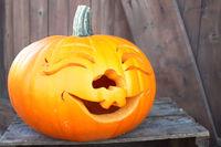 grinsender Halloween Kürbis