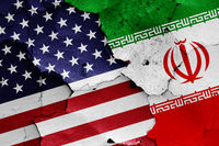 flags of USA and Iran