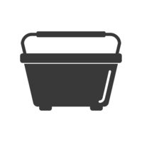Window Washing Bucket Icon Vector