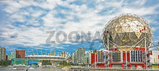Vancouver, British Columbia, Canada, 06.June.2018 View of the city from False Creek