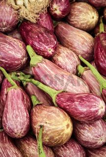 Aubergine auf einem Markt