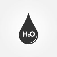 icon drops to the formula water. Simple design.