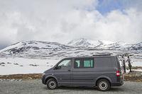 Landschaft auf dem höchsten Punkt des  Sognefjellsveien