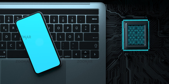Notebook Smartphone Microchip
