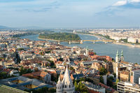 View over Margaret Island in Budapest, Hungary