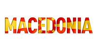 macedonian flag text font
