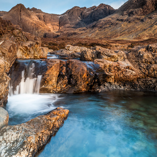 The Fairy Pools on Skye at Golden Hour