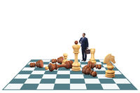 Strategy and tactics concept with businessman