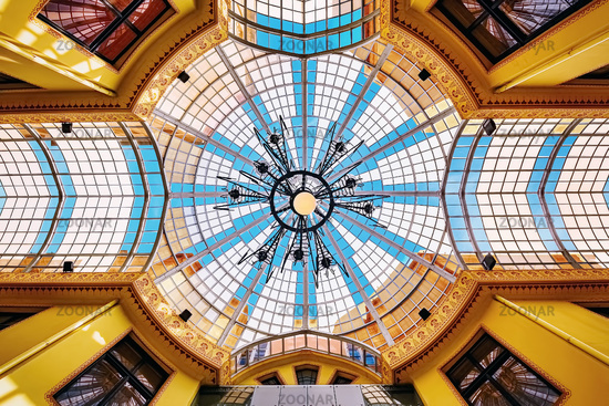 Glass roof of an Old passage in Oradea