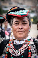 Portrait of woman on festival in Ladakh