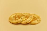 Bitcoin Münzen als Internet Währung Konzept