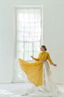 Dancer Performs Pa in the White Room on the Background of the Window.