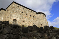 Medieval Raseborg Castle Ruins on a Rock