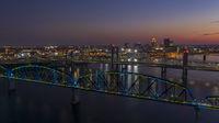 The Big Four Bridge helps Pedestrians Cross the Ohio River between Louisville and Jeffersonville