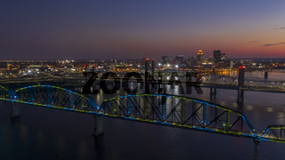 The Big Four Bridge helps Pedestrians Cross the Ohio River between Louisville and Jeffersonville