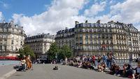Straßenmusiker in Paris. Nur zur redaktionellen Verwendung.