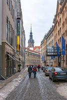 Fürstenzug zu Dresden, Sachsen, Deutschland