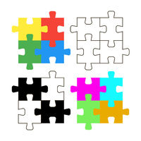 Vector illustration colorful puzzles. Solution. Idea.Success. Teamwork. Flat design. EPS 10.