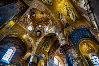 Interior of La Martorana church in Palermo, Sicily, Italy