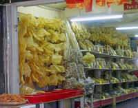 dried seafood in the store