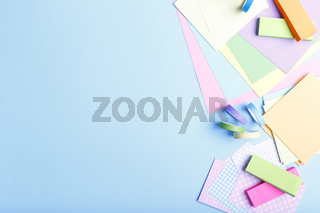 Colorful stationary paper supplies