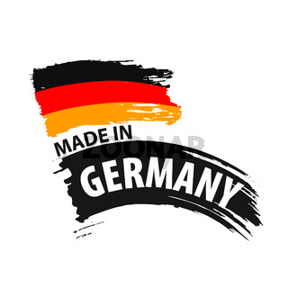 Germany flag, vector illustration on a white background