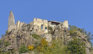 Burgruine oberhalb von Dürnstein in der Wachau