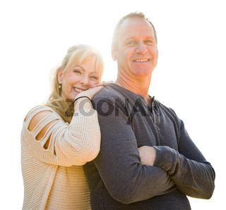 Attractive Middle-aged Couple Isolated On White Background