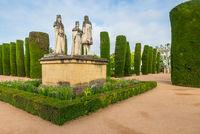 Garten des königlichen Alcazar, Cordoba, Andalusien, Spanien, Europa