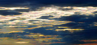 Abstract clouds with flashes of energy