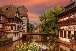 Half-timbered houses in Petite France, Strasbourg, France
