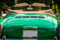 classic convertible cabriolet car back