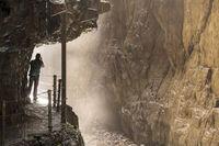 Spektakuläres Fotomotiv - die Partnachklamm, Naturdenkmal