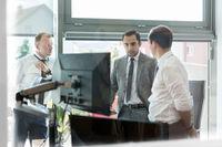 Corporate businessteam working in modern office.